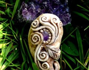 Amethyst Mystic Fleur Pendant