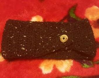 Crochet Headband with button