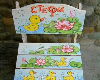 Wooden children's chair Boy/Girl chair Personalized children's furniture