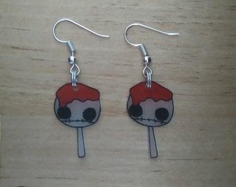 Lollipop died earrings