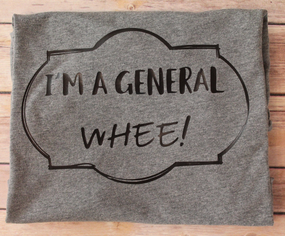 Design your own t-shirt hamilton - I M A General Whee A Hamilton Lyric Tee Shirt