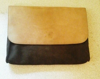 Brown/Beige Clutch