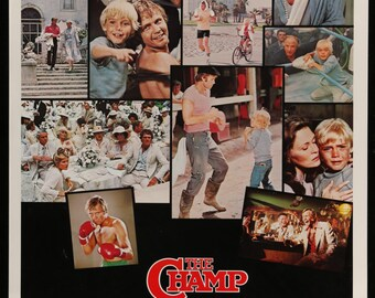 The Champ (1979) Vintage Movie Poster - Jon Voight, Faye Dunaway & Rick Schroder - FREE U.S. SHIPPING
