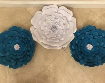 3 large paper flower set