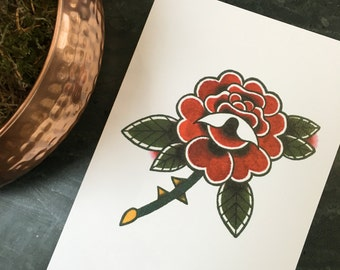 Rose Tattoo Print