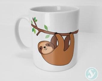 Cute Lazy Sloth Mug - Animals - Slothing - Gift