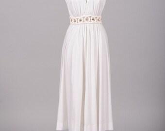 1970 Fred Perlberg Vintage Wedding Dress