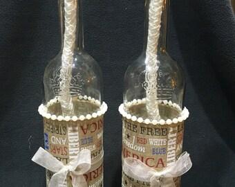 America Wine Bottle Tiki Torch