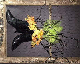 Witch's Boots Halloween Door Decor