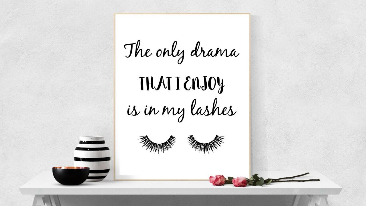 lash poster eyelash print mascara wall art eyelash decor lash zoom