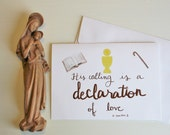 Priest Ordination Card - Catholic Greeting Card - 5x7