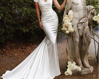 Delicate Desire Wedding Dress l Satin Wedding Dress