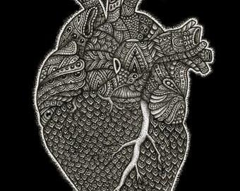 Ghost Heart 5X7 Art Print