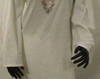 Women White Cotton Pant Set