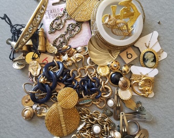 Vintage Jewelry Destash Craft Lot