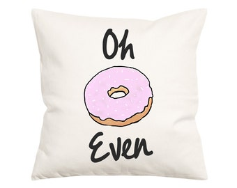 Oh Donut Even- Decorative Pillow-Throw Pillow Cover