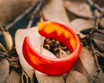 FIRE, Red and Yellow Resin Cuff