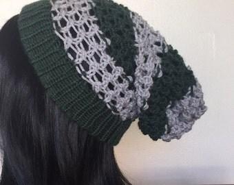 Slytherin Knit Slouchy Beanie
