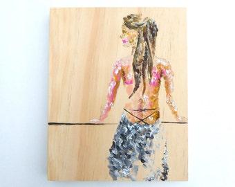 A Girl's Gaze--Original Painting
