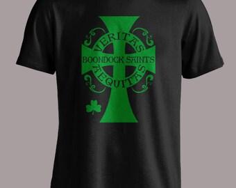 Boondock Saints shirt Cross Aequitas Veritas S-4XL and Long Sleeve Available