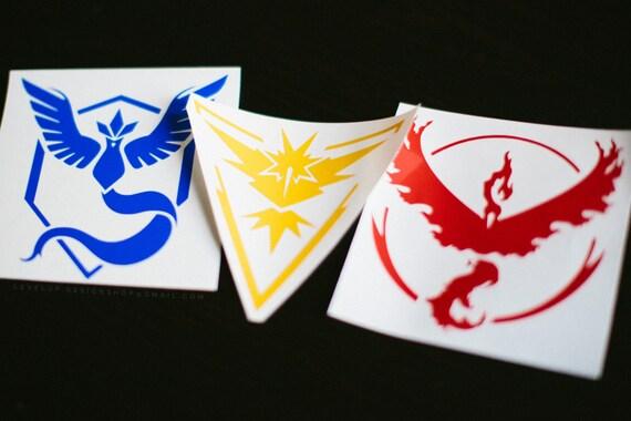 Pokemon Go Team Logo Instinct Mystic Valor By