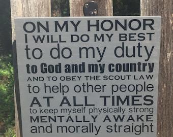 Boy Scout Cub Scout Oath