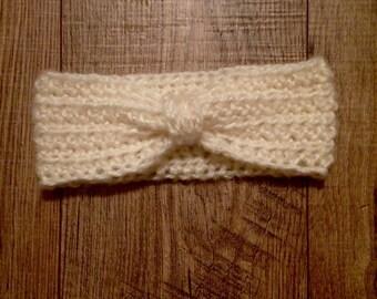 Crocheted headband earwarmer