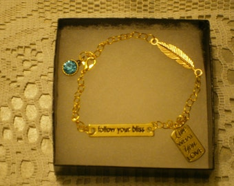 Follow Your Bliss Chain Bracelet