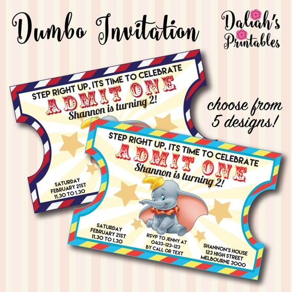 Dumbo Invitation Dumbo Invite Baby Shower By Daliahsprintables