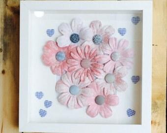 3D Framed Floral Art