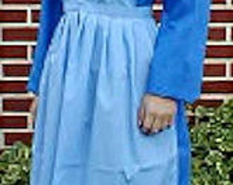 Amish Ladies 3 Piece Plain Dress (Dress, Cape, Apron) NEW - Made-to-Order