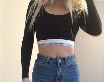 Reworked Calvin Klein crop top