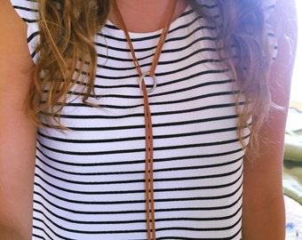 Suede Wrap Necklace