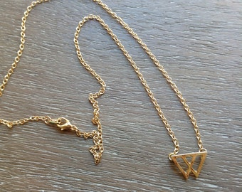 SALE-Dainty Mountains Necklace - Triangle Gold-Plated Neklace