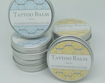 New Tattoo healing balm. Inked skin soothing balm. Tattoo care salve, tattoo aftercare, tattoo color enhancer balm. mens womens tattoo balm