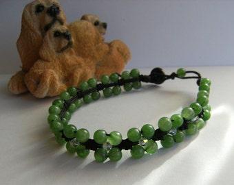 Jade and Crystal bracelet elegant simplicity