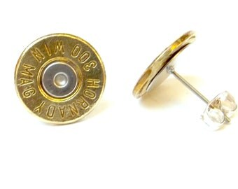 Bullet Jewelry-  300 Brass MAG stud earrings