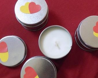 Rose/Lemon soy candle