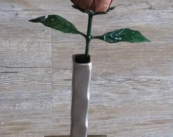 Copper/Gold Glitter Steel Rose