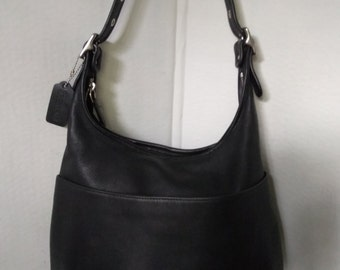 Vintage Coach Leather Shoulder Bag Purse #9058