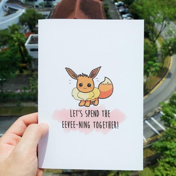 Birthday Cards Pokemon: Pokemon Greeting Card Eevee