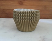 Solid Gold BakeBright Cupcake Liners, Taller Sized, Baking Cups (30)