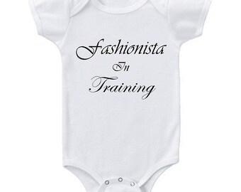 Fashionista in Training Tee Baby Onesie