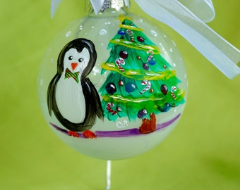 Penguin with Christmas Tree