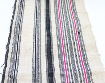 Vintage Hemp Fabric Tribal Textile Crafts