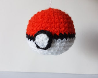 Pokeball (Pokemon) Amigurumi/crochet | Car accessories | Pokemon Pokeball plush | gifts for him | gifts for him | decoration [Made to order]