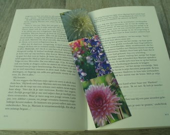 Double-sided picture book mark Flowers, little something, small gift, books, nature photography, bookmark, books, little present