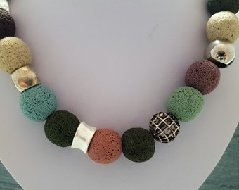 Necklace lava Naturals