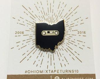 Ohio Mixtape Enamel Pin- Cloisonné Enamel Pin