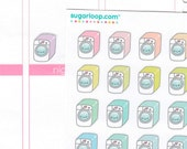 30 cute, kawaii, washing machine, rainbow, retro, laundry, planner stickers, pastel, washing day, chores, task, to do stickers, cleaning